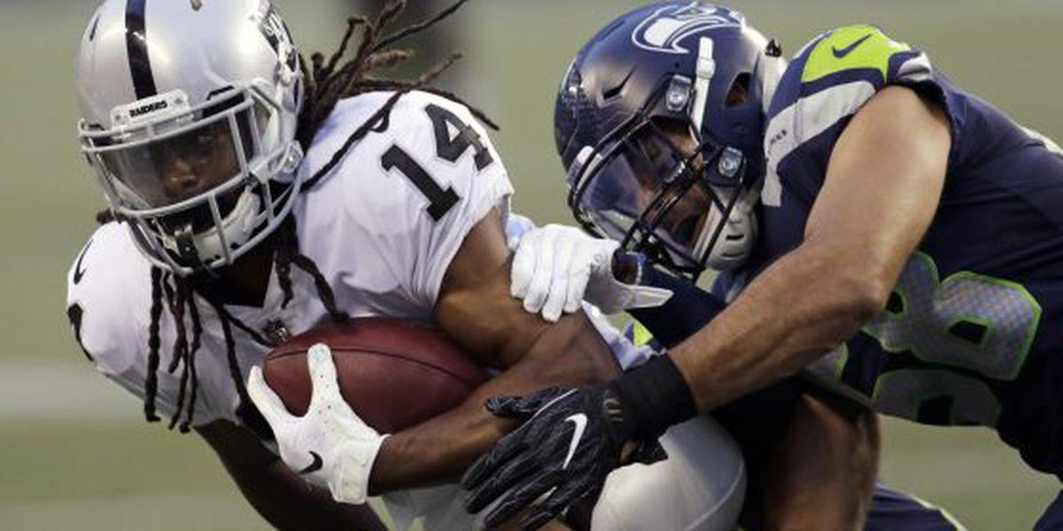 Keon Hatcher's three touchdowns lead Raiders to preseason win