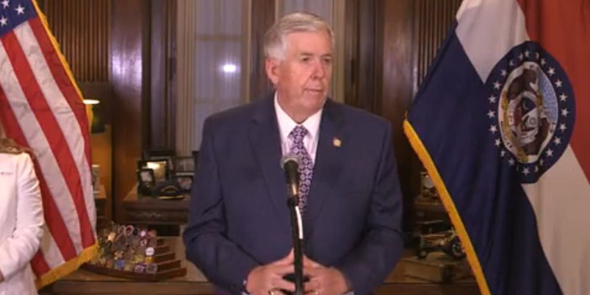 Mo. Gov. Parson holds news conference on statewide reorganization