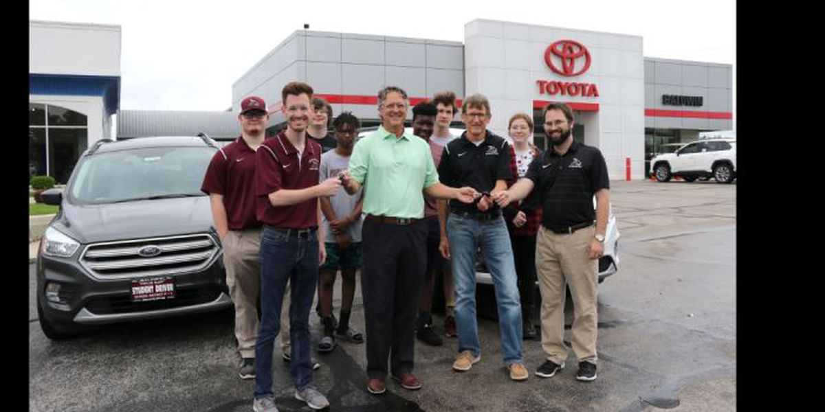 Car dealer helps school get new Driver's Education cars