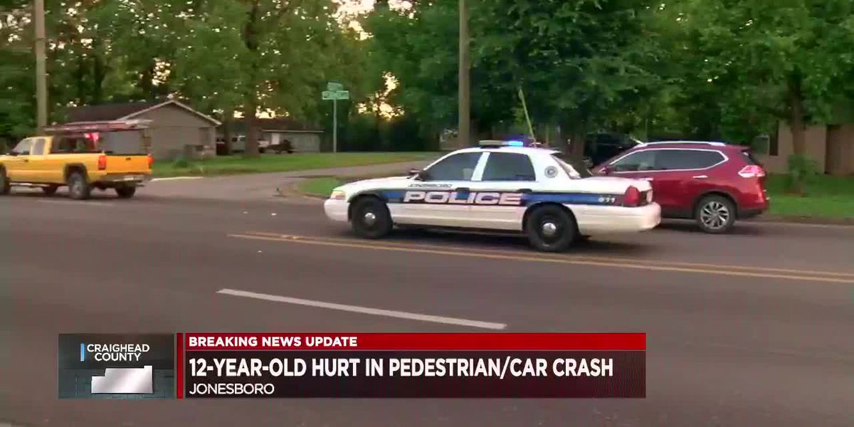 Child, 12, injured after being hit by car at North Church and Bettie