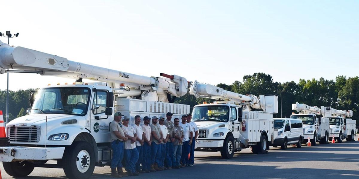 Power crews from region heading to Florida, South Carolina