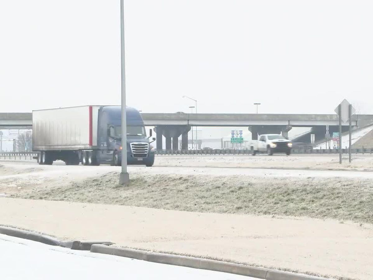 Icy roads, crashes slow truckers