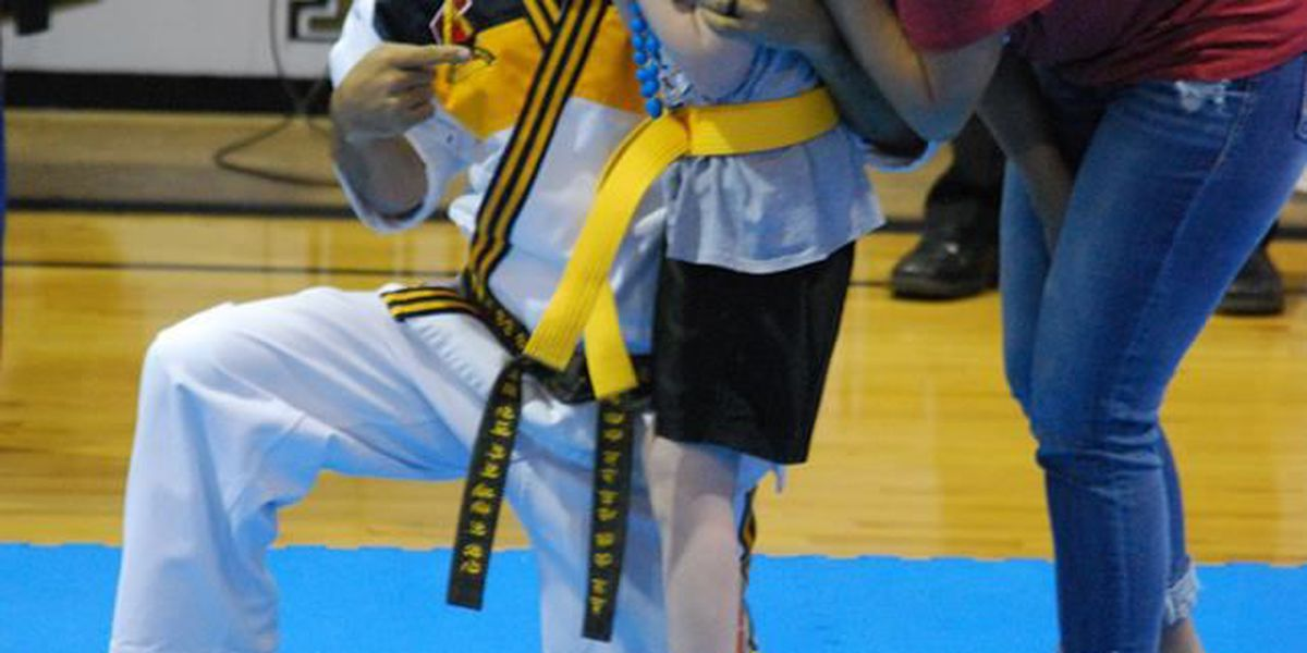 Jonesboro youth with rare disorder presented with martial arts belt