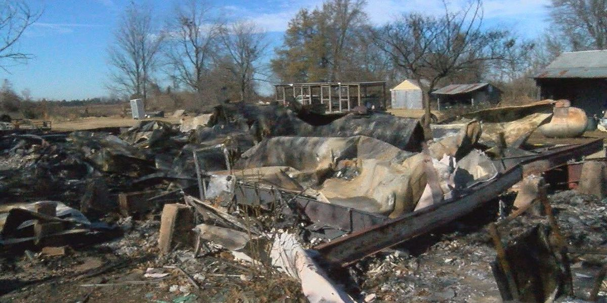 Arbyrd family loses everything in house fire