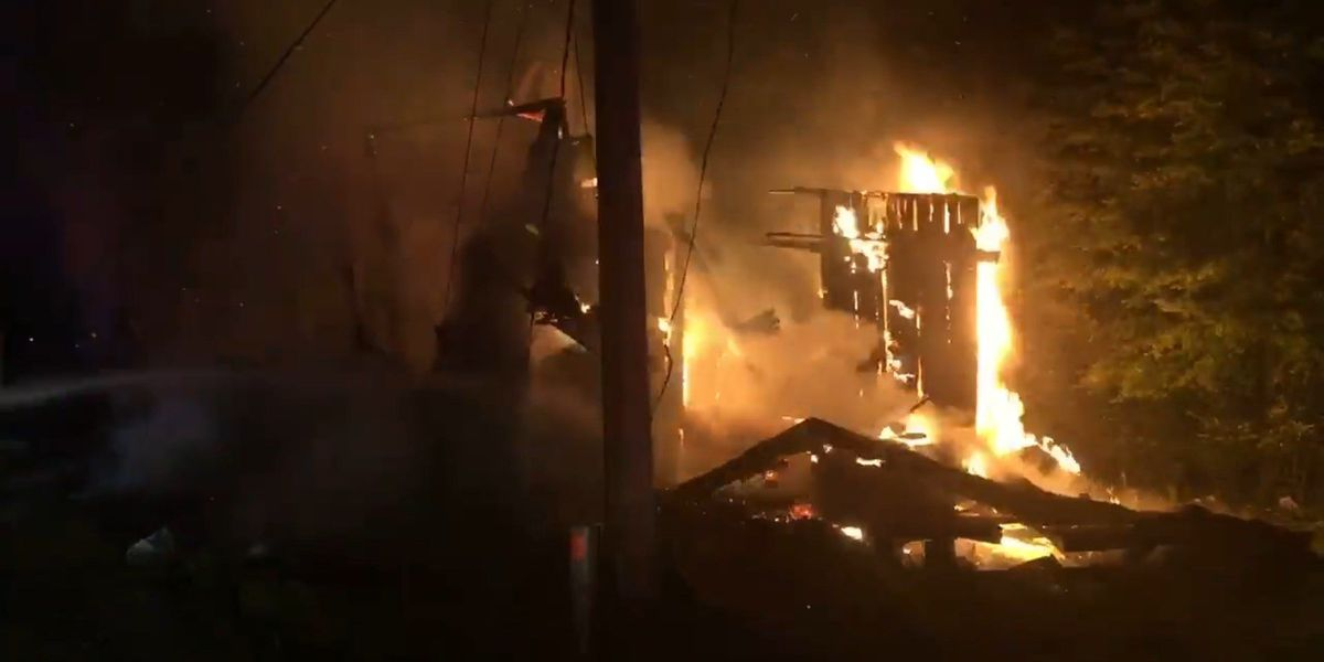 Home destroyed in early-morning fire