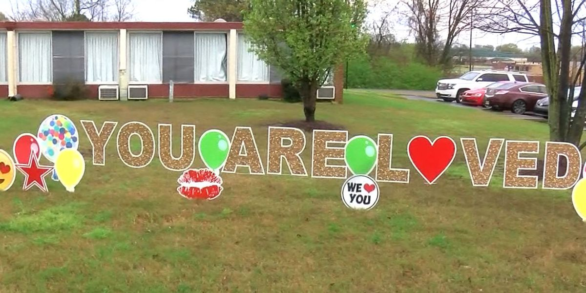 'You are loved': Heartfelt messages left outside Mid-South nursing homes after coronavirus outbreak ends family visits