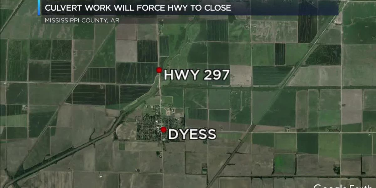 Hwy. 297 near Dyess closes for construction