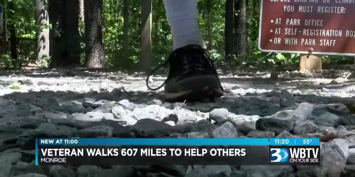 Veteran walks 607 miles, through tornadoes and storms, makes one request