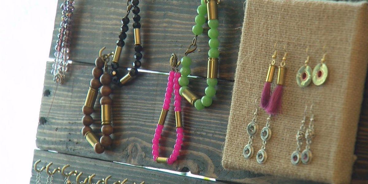 Woman creates jewelry with guns