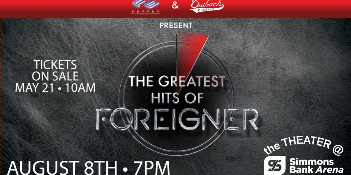 Foreigner bringing greatest hits tour to Little Rock