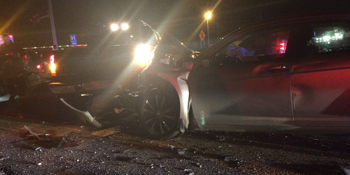 Multiple vehicle accident sends one to hospital