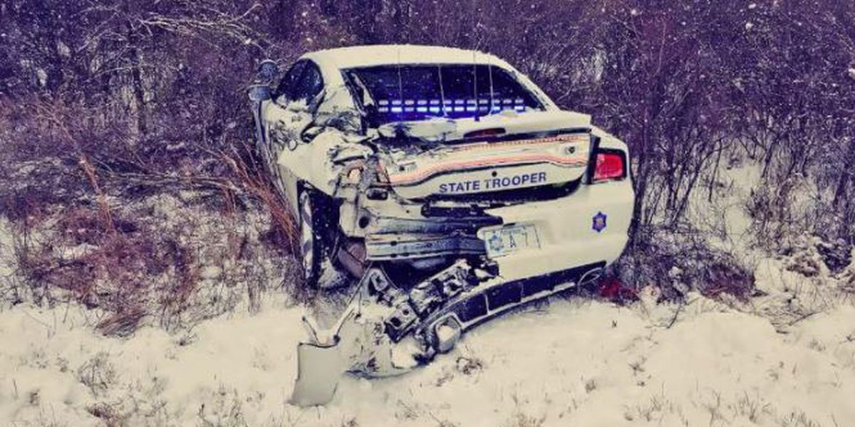 Trooper avoids serious injury in I-40 crash