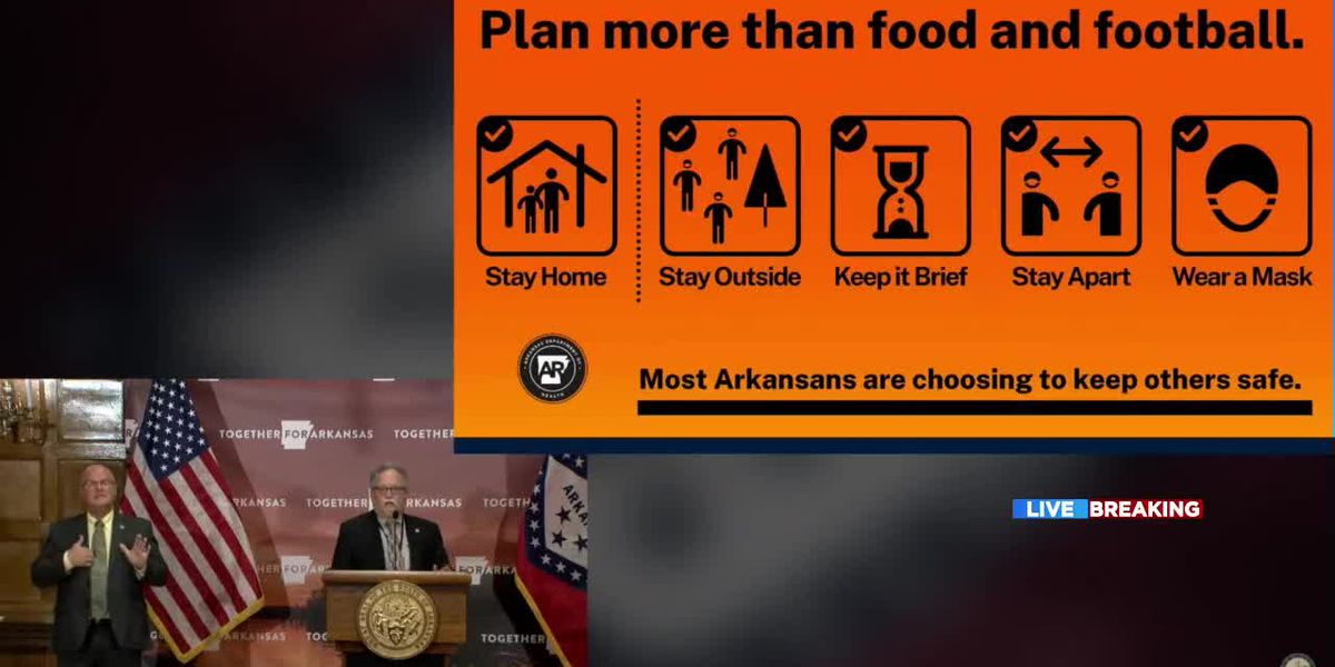 Arkansas officials urge residents to avoid Thanksgiving travel