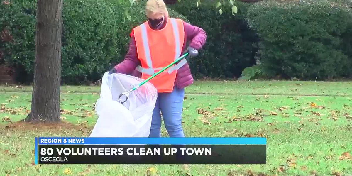Over 80 volunteers clean-up around Osceola Saturday morning