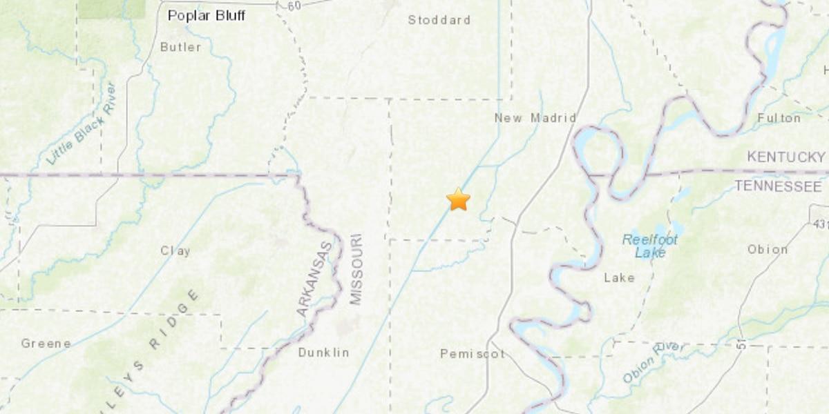 2.3 earthquake hits near Gideon, Mo.