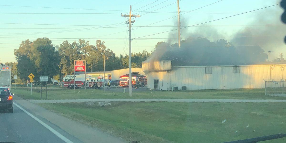 Jonesboro police, firefighters respond to fire on Highway 1
