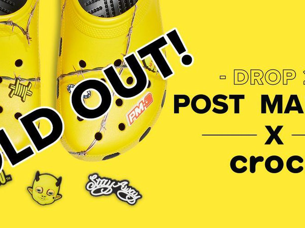 Post Malone's second Crocs release sells out in minutes, already selling on secondary markets for hundreds