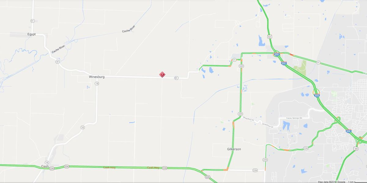 Hwy. 91 closed in Craighead Co. due to crash