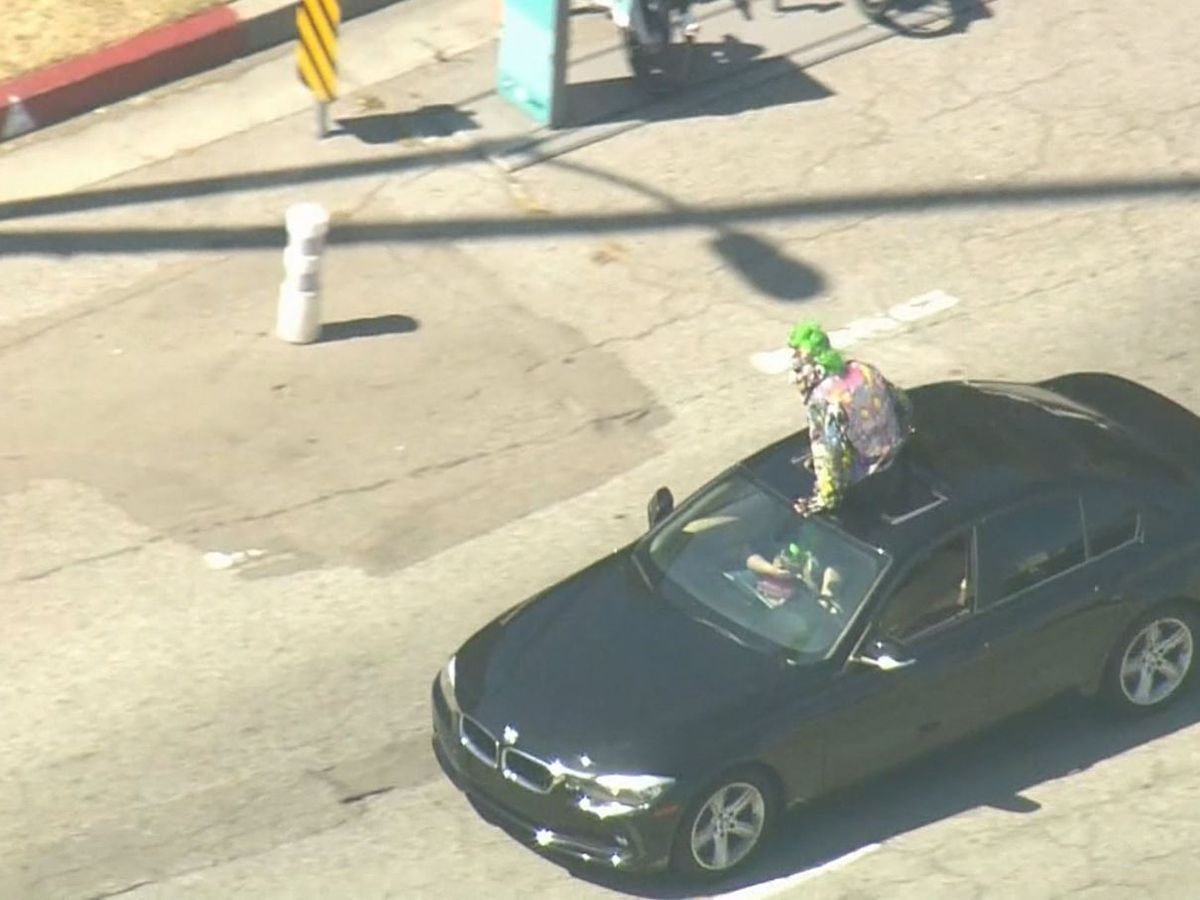 'Joker' leads Calif. police on chase