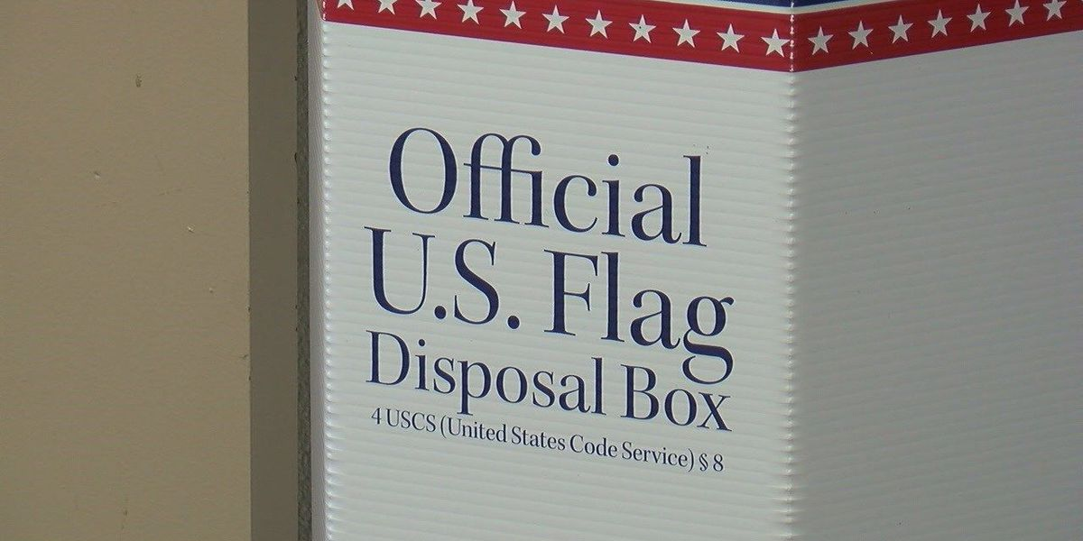 New flag disposal box added to courthouse