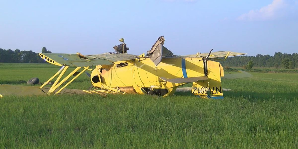Crop duster crashes in Greene County