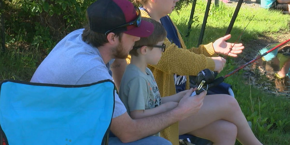 Kids learn life lessons as local group hosts family fishing event