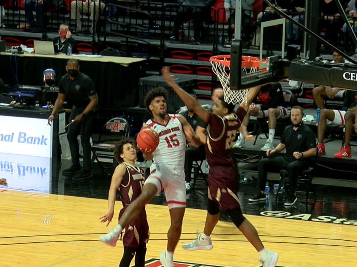 Norchad Omier drops double double but Arkansas State falls to Texas State