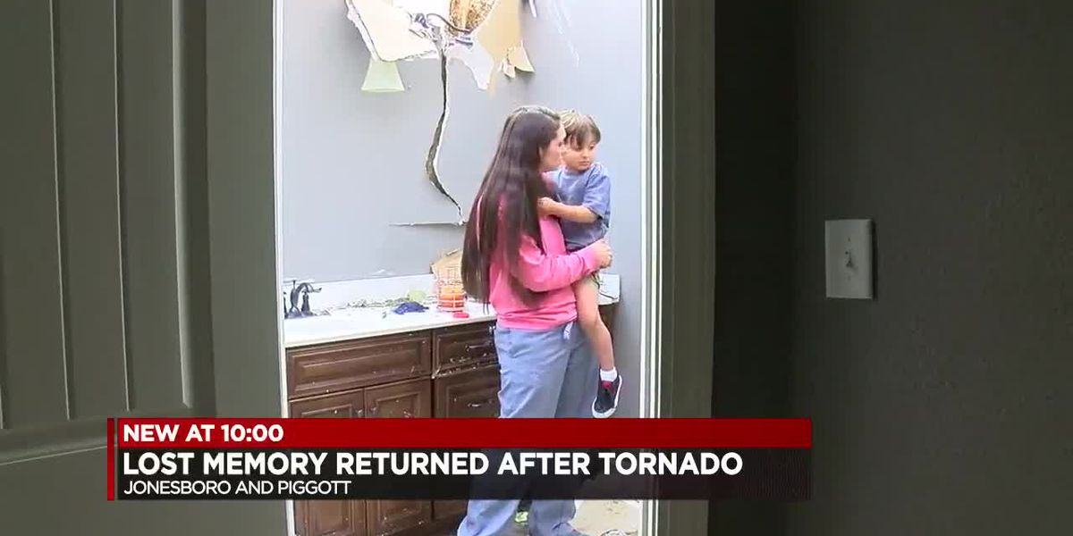 Baby photo reunited with family after tornado takes it 60 miles away