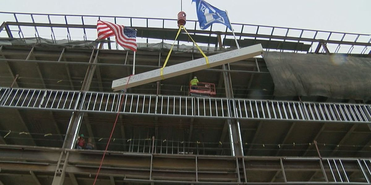 First National Bank tops out new construction project