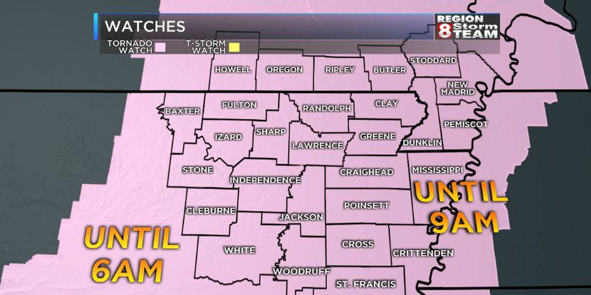 Tornado Watch issued for all of Region 8