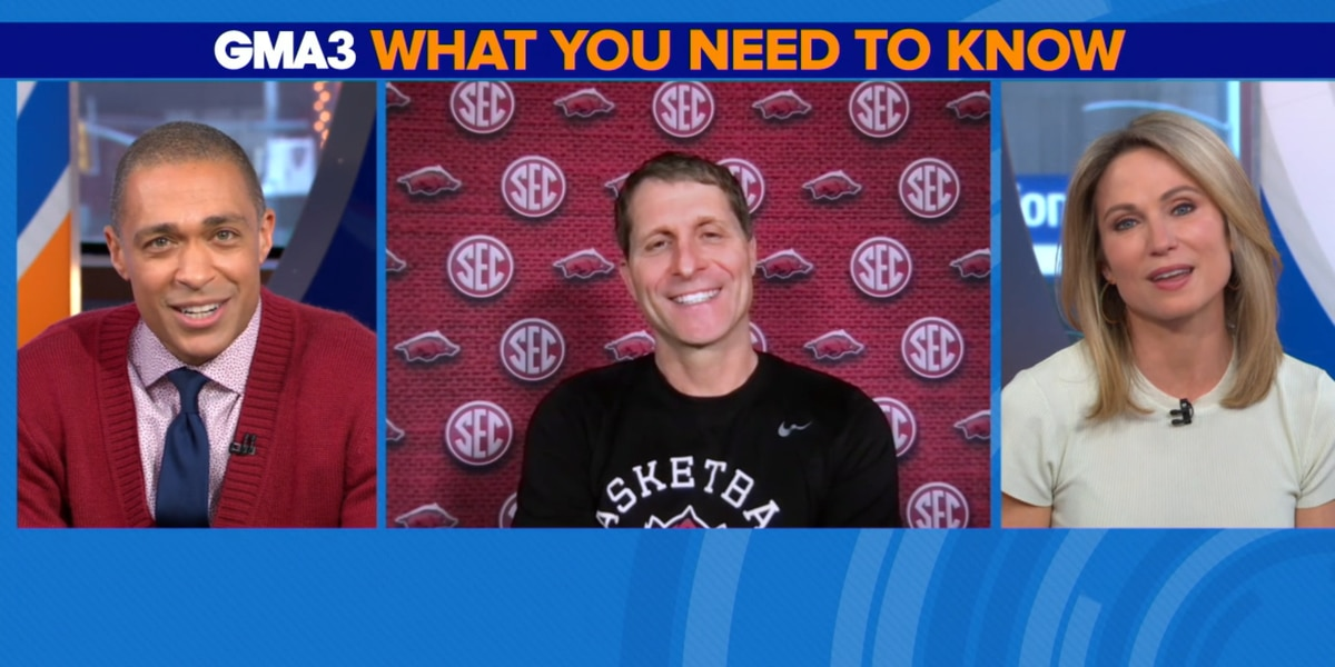 Arkansas head coach Eric Musselman appeared on GMA3 on Friday