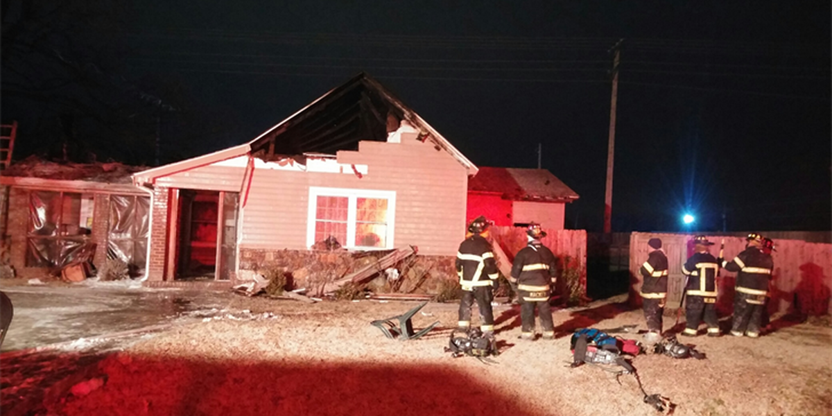Overnight fire leaves ice on Jonesboro road