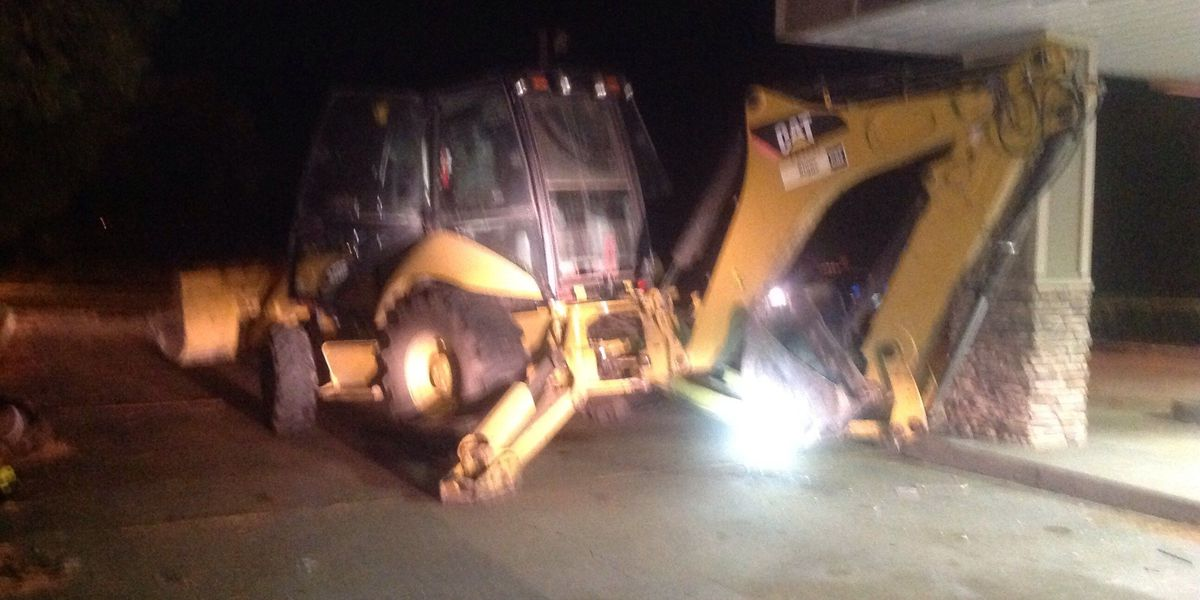 Police: suspects tried to knock over ATM with backhoe