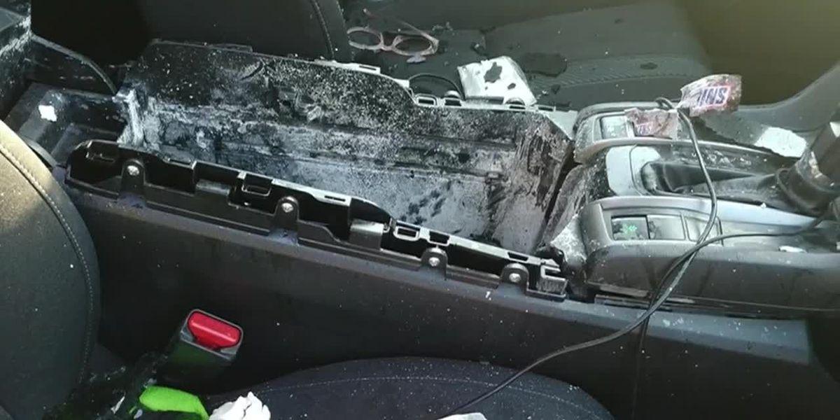 Dry shampoo can explodes, destroying Missouri woman's car