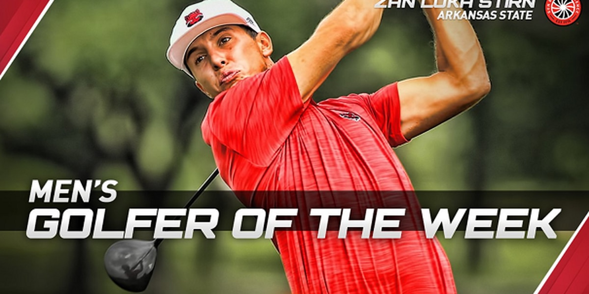 A-State junior Zan Luka Stirn named Sun Belt Men's Golfer of the Week
