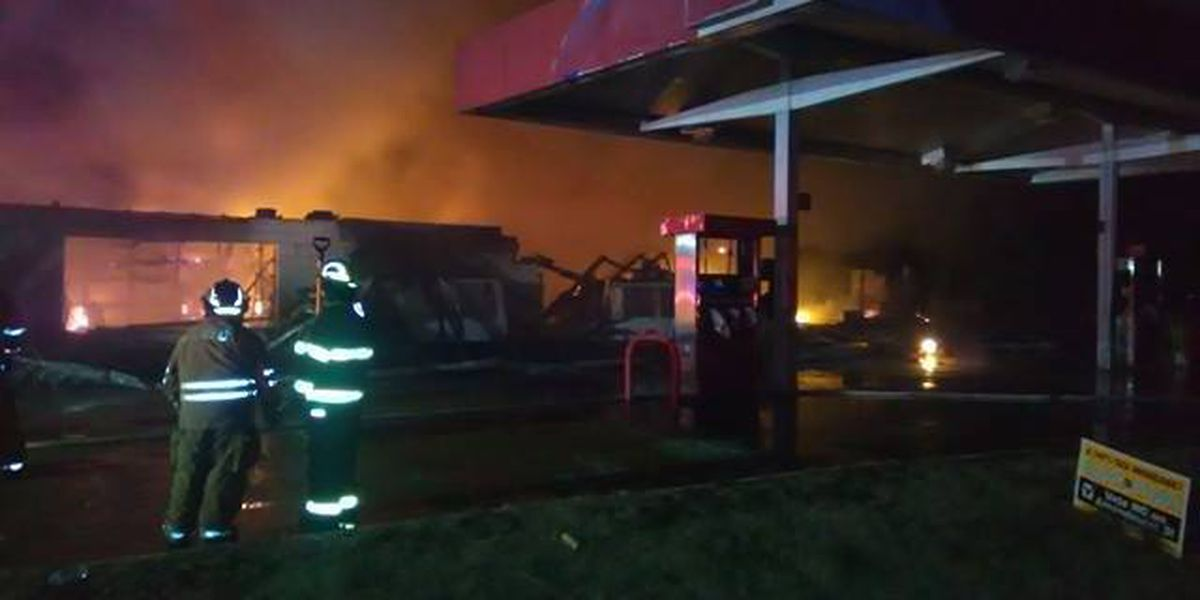 Gas station fire at the AR/MO state line