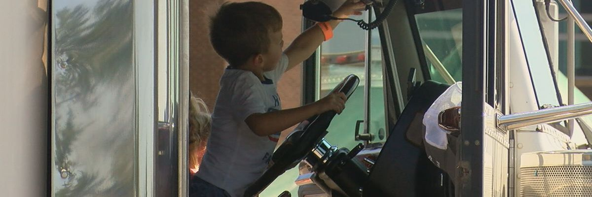 Big trucks fascinate kids at Touch a Truck event