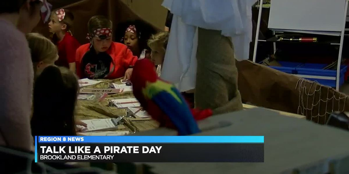 Elementary students celebrate Talk Like a Pirate Day