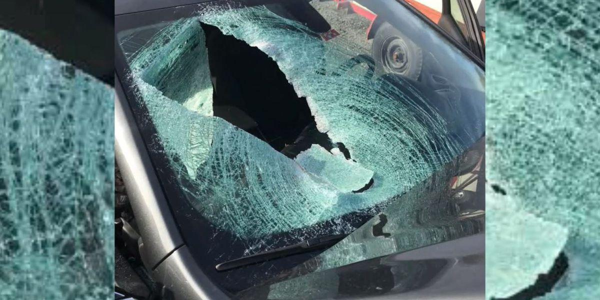 Woman injured when tire thrown off overpass onto Arkansas interstate