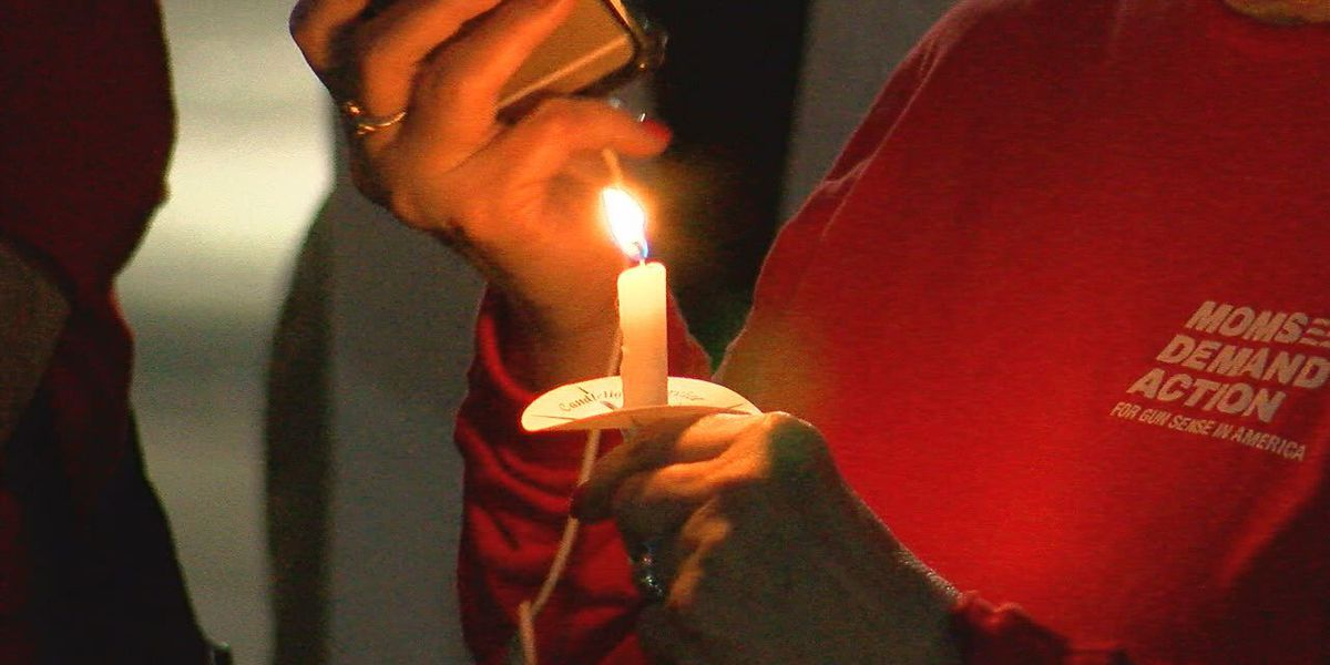 Group says enough to gun violence and holds vigil for victims of shootings