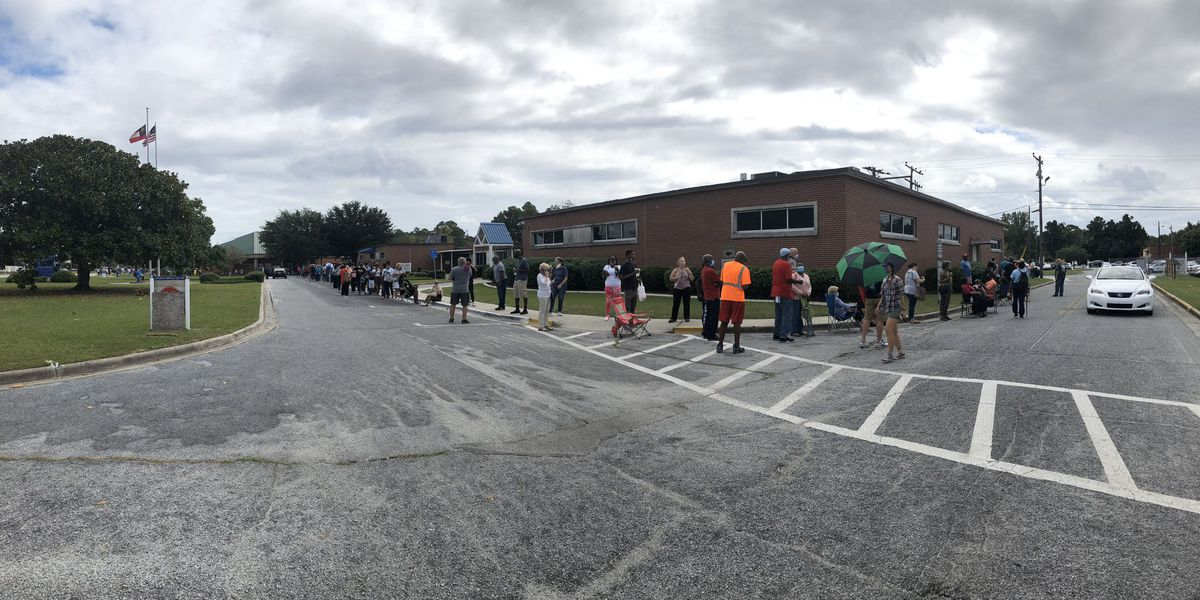 Long lines on first day of early voting in Georgia
