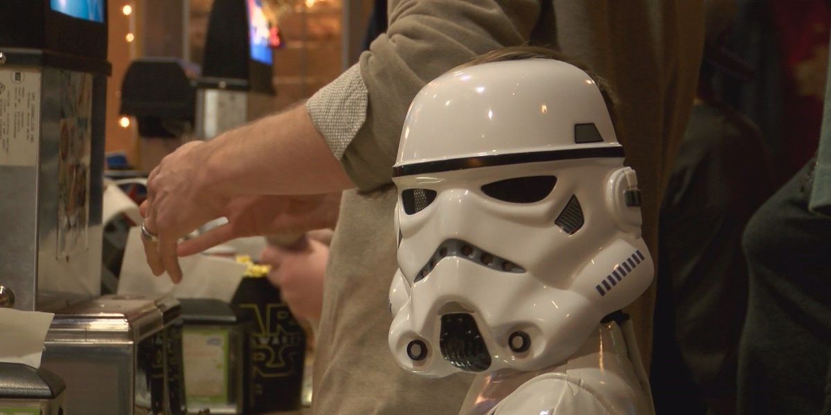 Star Wars fans attend the premiere in Paragould