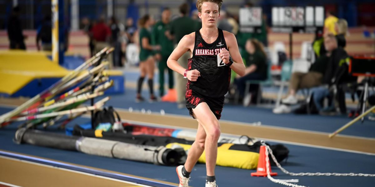 Arkansas State junior Bennett Pascoe named Sun Belt Men's Track Athlete of the Week