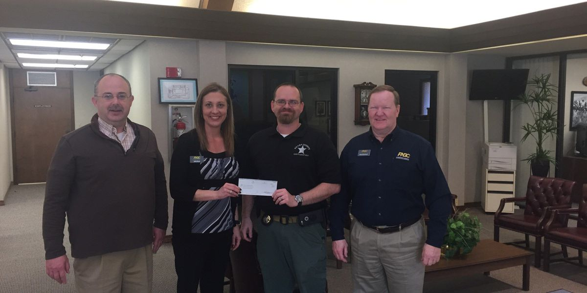 Bank helps purchase AED for sheriff's patrol unit