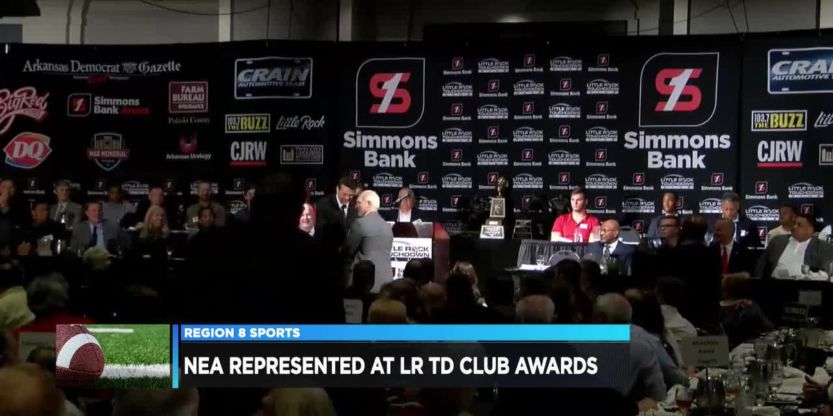 NEA represented Thursday at Little Rock Touchdown Club awards banquet