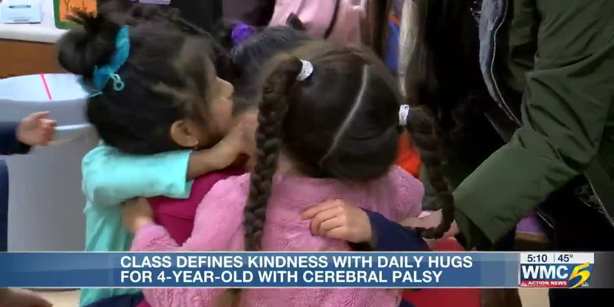Hugs for Miriam: Students teaching acceptance and kindness with daily hugs for 4-year-old classmate