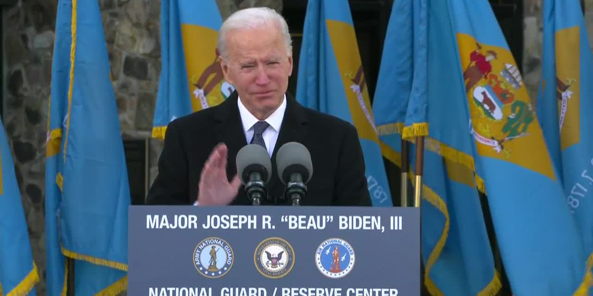 Biden gets emotional during speech before inauguration
