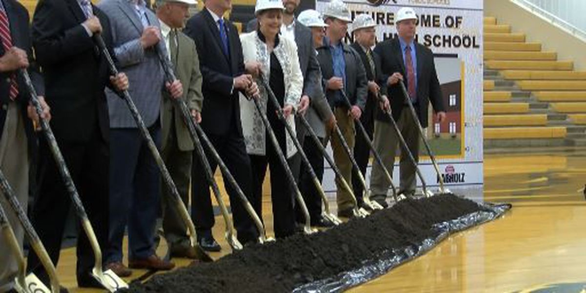 School district holds groundbreaking for new high school with governor