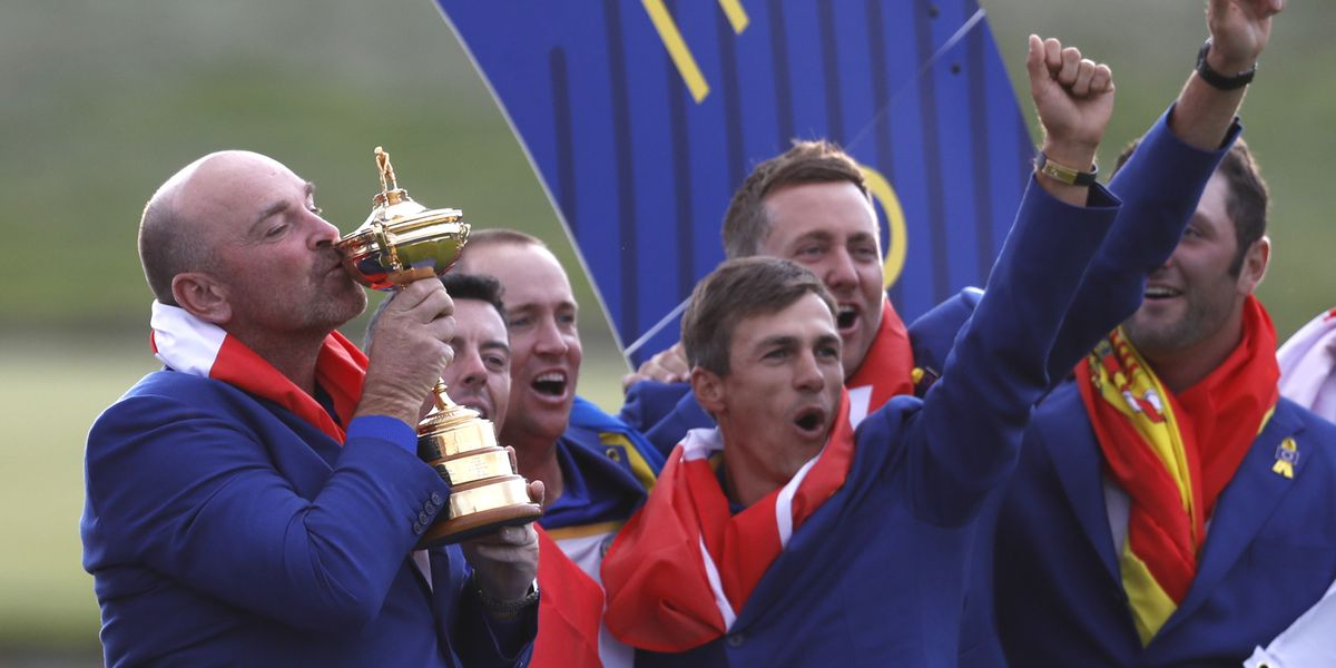 Europe finishes off dominant week to win back Ryder Cup
