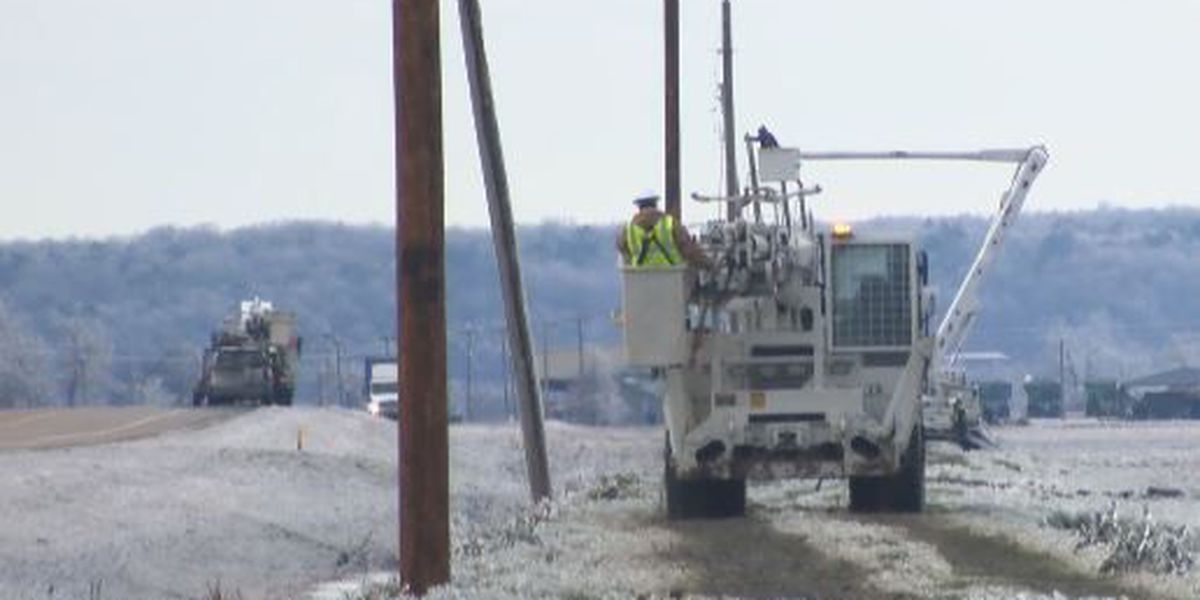 Ice and wind causes problems for electric companies